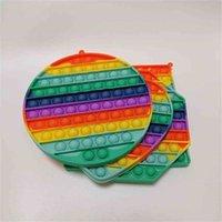 Push Pop Sensory Bubble Rainbow Giocattoli Accessori Accessori per bambini Tie Dye Patchwork Ansia Stress Stress Reliever Poo-Its Tiktok Desktop Puzzle Board Game Toy