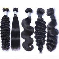Brazilian Peruvian Malaysian Indian Virgin Human Hair Weave Bundles Body Wave Straight Loose Deep Wave Kinky Curly Remy Hair Natural Color