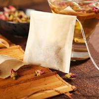 Sac à thé Filtre Sacs de papier Sacs à thé Chauffer Teabags Tea Présecteur Infuser Bois Drojastring pour herbes Thé en vrac 3 Tailles HHB8485