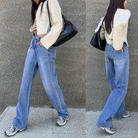 Женщины Мода Высокая талия Номер Печать Джинсы Дамы Стильные брюки для покупок ежедневно Носите женщин