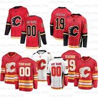 Özel Calgary Flames Hokey Formaları 5 Mark Giordano 11 Mikael Backlund 39 Doug Gilmour 13 Johnny Gaudreau 23 Sean Monahan
