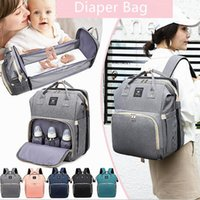 Diaper Bags Bag Backpack With Changing Bed Baby Crib Sleeping Bassinet Fashion Mom Shoulder Organizer Travel Accessory