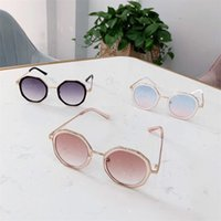 Ins Mode Kinder Mädchen Sonnenbrille Leoparden-Druck Mädchen Sonnenbrille Ultraviolett-Proof Kinderbrille Jungen Gläser Designerzubehör 1069 v2