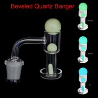 Terp Slurper Quartz Banger With Luminous Glowing Glass Beads Pearls Ruby Marble Pill For Water Bong Dab Rig Nail Beveled Edge Blender