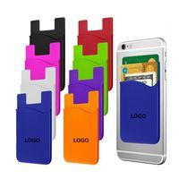 Carteira de cartão de crédito auto adesivo cartões Capas de telefone celular Capa de silicone colorido para iPhone 11 12 mini pro máxima sumsung galaxy s21 ultra xiaomi