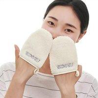 Gants de nettoyage en microfibre réutilisables Coton de maquillage adapté à la peau pour personnes accessoires de soin de nettoyage facial Soins éponges, applicateurs