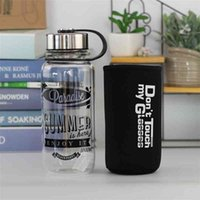 Large capacity water cup portable heat resistant creative outdoor sports tea bottle space glass 1000ml
