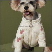 Dog Pet Supplies Home & Gardencute Stberry Pets Coats Fashion Personality Charm Teddy Bichon Jackets Winter Thicken Designer Bldog Outerwear