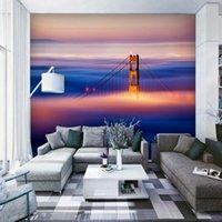 Wallpapers Drop Custom 3d Wallpaper Magnificent Oil Painting Chain Bridge TV El Decoration Backdrop Wall Murals