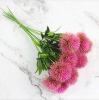 Yapay Karahindiba Çiçekler Faux Çiçek Yeşil Gerçek Dokunmatik Dandions Sahte Simülasyon Bitkileri Plastik Çiçek Ev Düğün Dekorasyon HWD6379