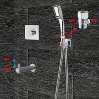 Verdeckte Badezimmer-Dusch-Set-Thermostatventil-Wasserauslauf mit Schalterregenkopf-Gas-Haltestelle reguliert Fließsätze