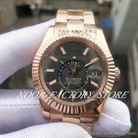 Luksusowe Mężczyźni Niebo M326935-0007 Rose Gold Stal nierdzewna Pasek 2813 Automatyczny ruch GMT Ring Ring Command 42mm Męskie zegarki sportowe