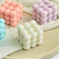 촛불 작은 거품 큐브 촛불 콩 왁스 향기로운 편안한 생일 선물 1pc