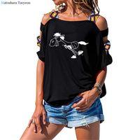 Fun Cartoon Animal Horse Print T-shirts Women Summer Clothes Cotton T Shirt Harajuku Graphic Tee Short Sleeve Tops For Women's T-Shirt