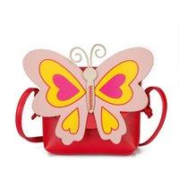 Backpacks Kids Cross Body Bag Butterfly Design Messenger Brand Mini Flop