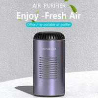 Car Air Freshener Purifier With HEPA Filter Portable Cleaning Negative Ions Support Wireless Charging