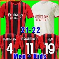 IBRAHIMOVIC Mailand 21 22 Fußballtrikot 2021 2022 PIATEK Fußballtrikots PAQUETA THEO SUSO REBIC Camisa de Futebol Maillot Männer + Kinder Kit 120. 120 Jahre