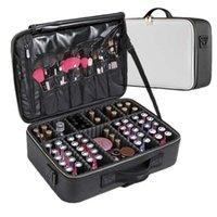 Lhlysgs Clapboard Kosmetiktasche Koffer Multi-Story Große Professionelle Make-up-Tasche Frauen Schönheit Organizer Kosmetiktasche 210226