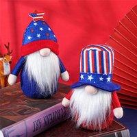 Independence Day Party Gnomes Decorativos EUA Veterano Dias 4 de Julho Patriotic Feleless Boneca De Pelúcia Crianças Presente Home Ornamento DWE9766
