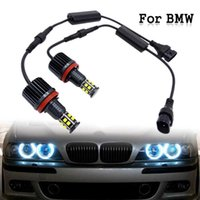 1 Pair Car 120W H8 LED Angel Eyes Headlamp White Driving Light Bulb For BMW E39 E63 E70 E82 E90 E92 X3 X5 X6 Z4 2007-13
