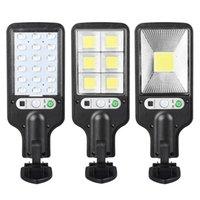 Solar Street Light COB LED Wall Lamp PIR Motion Sensor Waterproof Outdoor Garden Lights Remote Control
