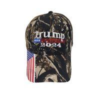 25pcs / DHL Camouflage Trump 2024 Chapeau de boule Femmes Designers Snaperback Casquettes de baseball Snapback Siden US Drapeau Maga Summer Sun Visor 964 V2