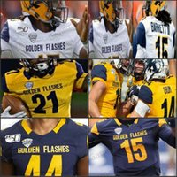 Custom College Kent State Golden lampeggia calcio Mens Youth Stitched NCAA Jerseys 6 Matt Bahr 7 Jamal Parker Woody Barrett III Marquez