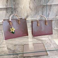 Designer de luxo de alta qualidade senhoras 2021 impresso saco de compras bolsa mulheres moda mãe grande capacidade bolsa bolsa bolsa de ombro marca cor gradiente letra