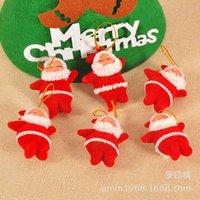 Poupée suspendue, décorations de Noël, Santa Claus rouge de 5 centimètres