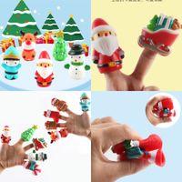 Тикток дети дети рождественские хэллоуин пальцев марионеток набор мягких мультфильм резиновые куклы вечеринки одолжение реквизиты тыква призрак Xmas Дерево Санта пункт настольных игрушек G88QNZJ