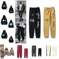 Kanye رجل السراويل عالية الشارع بانت للرجال عالية الجودة sweatpants عارضة الهيب هوب كامو الشارع الشارع 0102