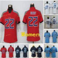 Frauen TEMESSEE JERSYS 17 RYAN TANNHill Tltan 22 Derrick Henry Blue White Damen Größe S-2XL