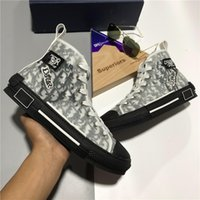 2021 Top Quality B23 B23 Designer di lusso Scarpe da uomo Donna Casual Scarpe Casual High Basso Oblique Ape Moda Paia Pelle Tecnica Pelle Piattaforma per esterni Tecnica Sneaker con scatola