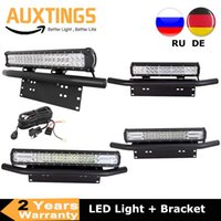 Working Light 18 20 23in 126W 288W 324W Led Bar + Bull Front Bumper License Plate Bracket Wiring Kit For ATV 4WD 4x4 Car