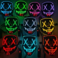 Halloween Mask LED Light Up Funny Masks The Purge Election Year Great Festival Cosplay Costume Supplies Party Mask RRA4337