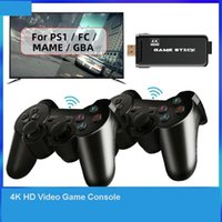 Portable Game Players 2.4G Double Wireless Controller 4K HD Video Console For PS1 FC GBA Retro TV Dendy 10000 Games Stick
