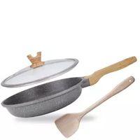Wok Non-stick Pan No Smoke Flat-bottom Cooking Pot Household Frying Induction Cast Iron Pans