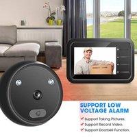 الجرس R11 Digital Boorbell الذكية إلكترونية ثقب الباب العارض 2.4 بوصة شاشة LCD لون الأشعة تحت الحمراء للرؤية الليلية الباب كاميرا الفيديو جرس