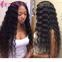Virgem Brasileiro Babitetes com fecho solta onda profunda ondulada extensões de cabelo humano weiteable trama molhado e ondulado curly malaio pacotes de cabelo malaio