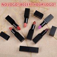 Nenhum logotipo! 20 cores Matte batom tubo quadrado personalizado logo lipgloss charmoso hidratante labial bálsamo aceitar o seu logotipo!