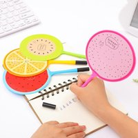Ballpoint Pens Cartoon Cute Fruit Fan Pen Learning Stationery Writing The Shape Is And Smooth.