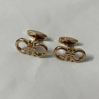 4 colores Cuff de lujo enlaces Classic French Gemelos de alta calidad con sello plata oro oro rosa-oro