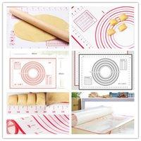Atacado Rolling Pins Pins Pastry Placas de Silicone Fibra de Fibra de Fibra de Fábrica Bolos Bakeware Liner Pad Mat Forno Macarrão Cozinhar Ferramentas