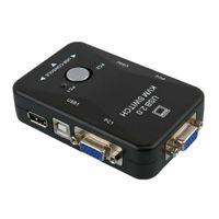 В 1 USB 2.0 KVM коммутатор коммутатор 2 порты 1920 * 1440 VGA Splitter SVGA Box клавиатура ПК адаптер для мыши P0M6 компьютерные кабели разъемы