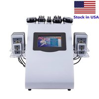 6 in 1 40k Slimming Machine Ultrasonic liposuction Cavitation 8 Pads Laser Vacuum RF Skin Care Salon Spa weight loss Beauty Equipment