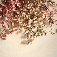 Kiraz Şeftali Çiçeği Yapay Sahte Ipek Çiçek Ev Düğün Parti Çiçek Dekor Nefis Özlü Ve Güzel Dekorasyon Dekoratif Flowe