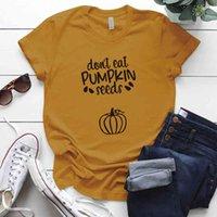 먹지 마십시오 호박 씨앗을 먹지 마십시오 tkanksgiving day 여자 tshirts 캐주얼 느슨한 둥근 목 플러스 사이즈 s-5xl 대형 티셔츠 탑스