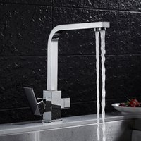 Kitchen Faucets Faucet Brass Black Double Use And Cold Sink With Direct Drink 3 Way Water Filter Tap