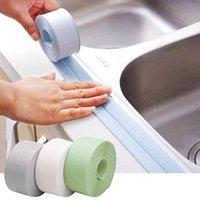 목욕 액세서리 세트 욕조 가스 스토브 싱크 씰링 테이프 PVC 욕실 주방 곰팡이 방지 방수 뷰티 솔기 스티커 실용적인 OWD9342