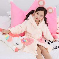 Flanel Kış Giysileri Bornoz Çocuk Kapşonlu Yıldız Baskı Pijama Toddler Bebek Soyunma Kıyafeti Çocuk Kızlar için Sonbahar Bornozları 1412 B3